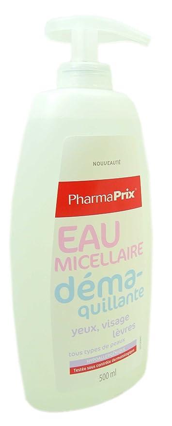 PharmaPrix Agua micelar desmaquillante, 500 ml