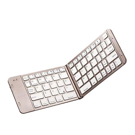 Dolity Teclado Plegable de Bluetooth Teclado Inalámbrico de Bluetooth Teclado plegable de tamaño delgado Compatible con