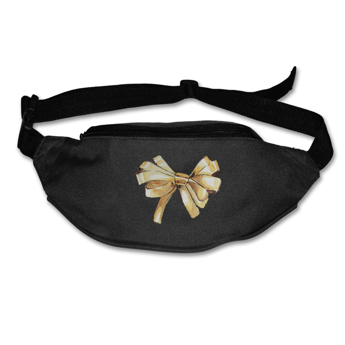 Gold Bow Sport Waist Bag Fanny Pack Adjustable For Run