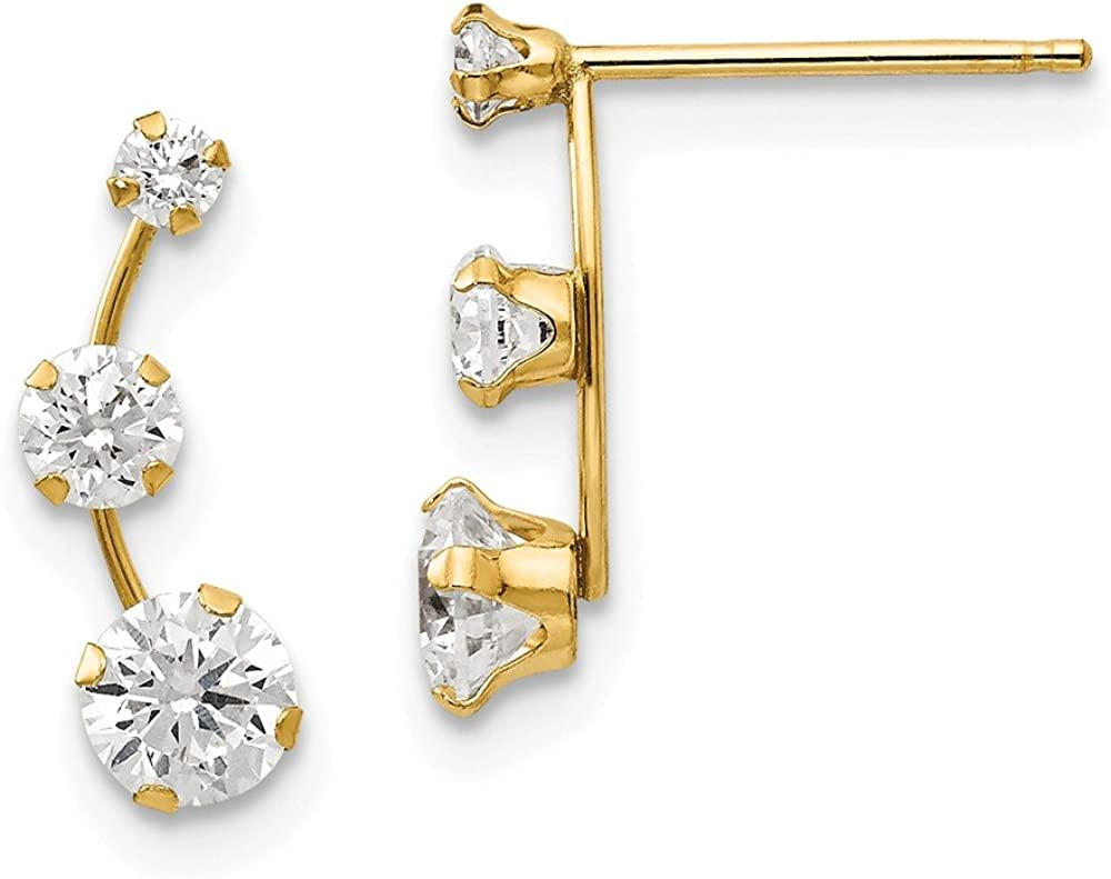 gold cz earrings gold cz climbers gold cz earrings cz earrings gold cz arrow climbers gold cz arrow earrings Gold CZ climber earrings
