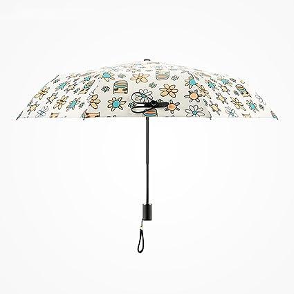 AFCITY Mujer Hombre Paraguas Viaje Sombrilla Paraguas Creativo de Las Mujeres Paraguas protección UV Paravientos a