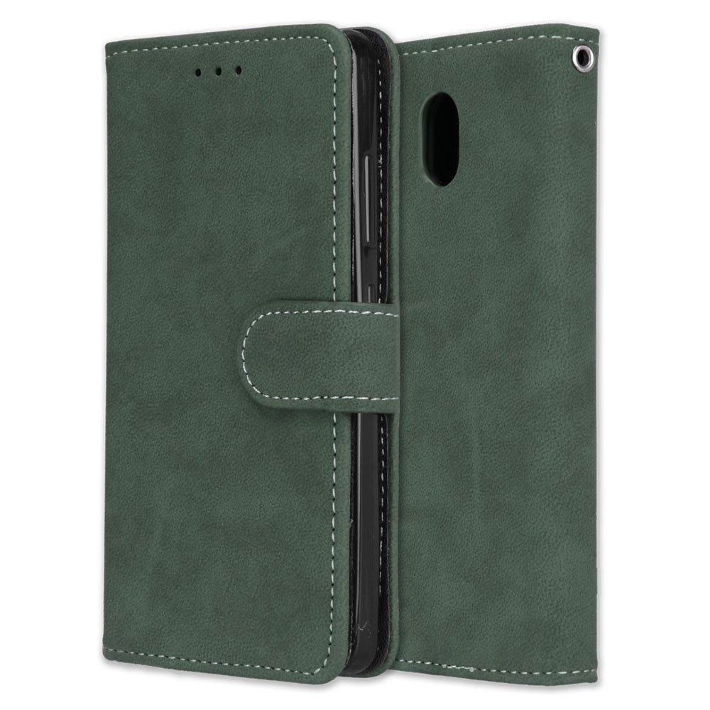 Funda Lenovo Vibe P2 P2a42 Case,Bookstyle 3 Card Slot PU Cuero cartera para TPU Silicone Case Cover(Verde): Amazon.es: Electrónica