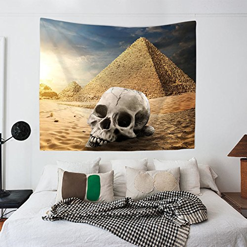 Tapestry Wall Hanging Halloween Desert Skull Hippie Beach India Art Cool Bohemian Blanket Twin Size