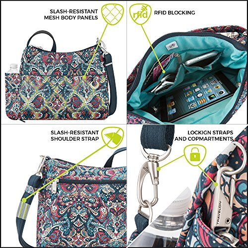 Crossbody Body Theft Boho Paisley Bag Anti Travelon Cross Square Women's Summer vEXq0vBWnT