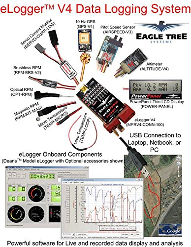 Eagle Tree Systems, LLC eLogger V4 with Wire Leads, 150 Amp  MPRV4-LEADS-150: Amazon.ca: Industrial & ScientificAmazon.ca