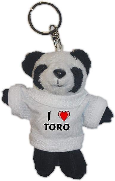 Shopzeus Oso Panda de Peluche (Llavero) con Amo Toro en la Camiseta (Nombre de Pila/Apellido/Apodo): Amazon.es: Juguetes y juegos