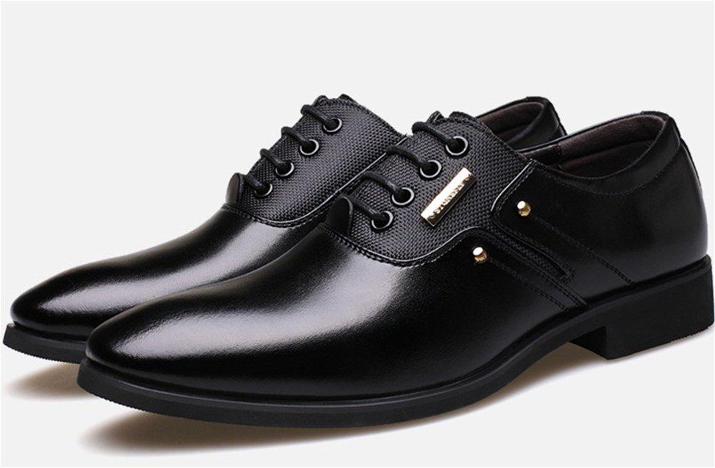 XIE Lederschuhe Herren Anzüge Geschäft Jugend Tipped Schnürsenkel große Größe Gezeiten Schuhe Mode Schuhe 37-44 schwarz