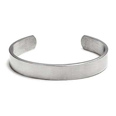 9d6cb415eb2 Amazon.com: Chisel Brushed Stainless Steel Cuff Bangle Bracelet: Mens Cuff  Bracelet: Jewelry
