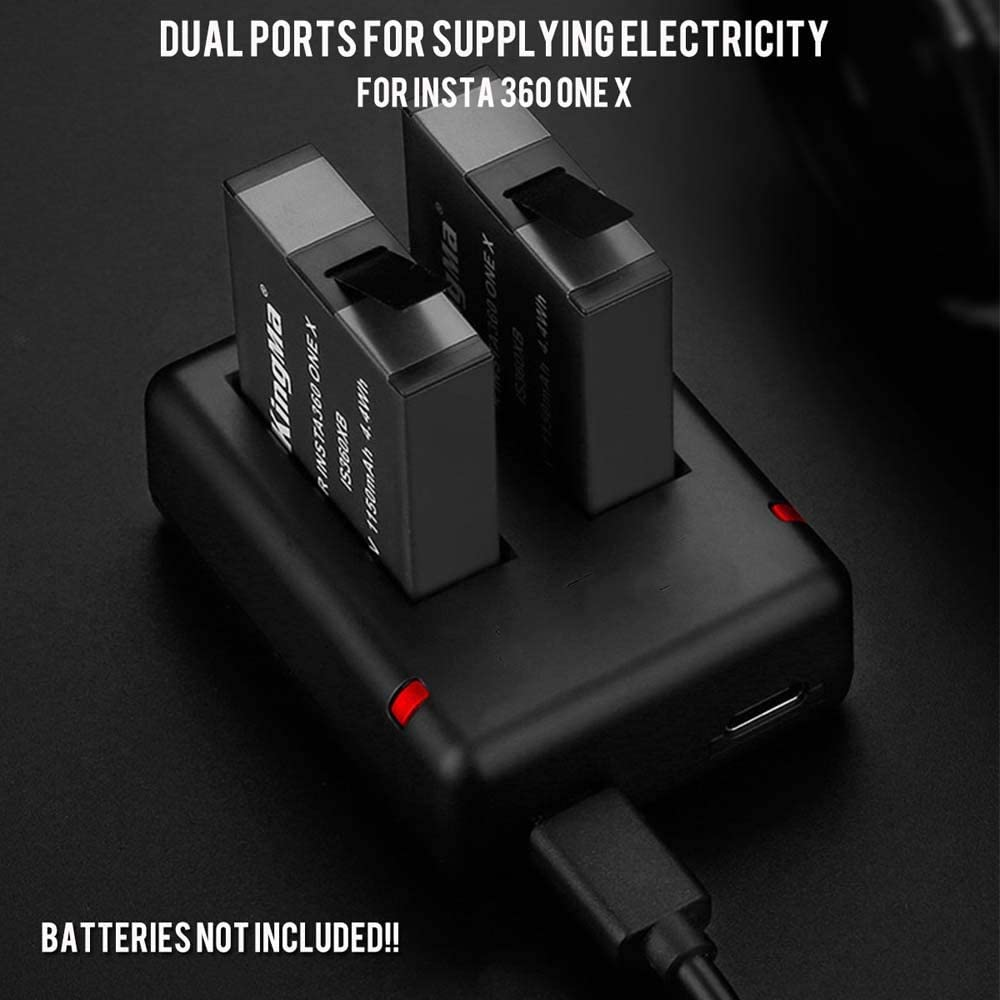 Leoie One x Battery Charger Dual USB Support Micro and Type-c Power Fast Charging Input Invisible Camera Accessories
