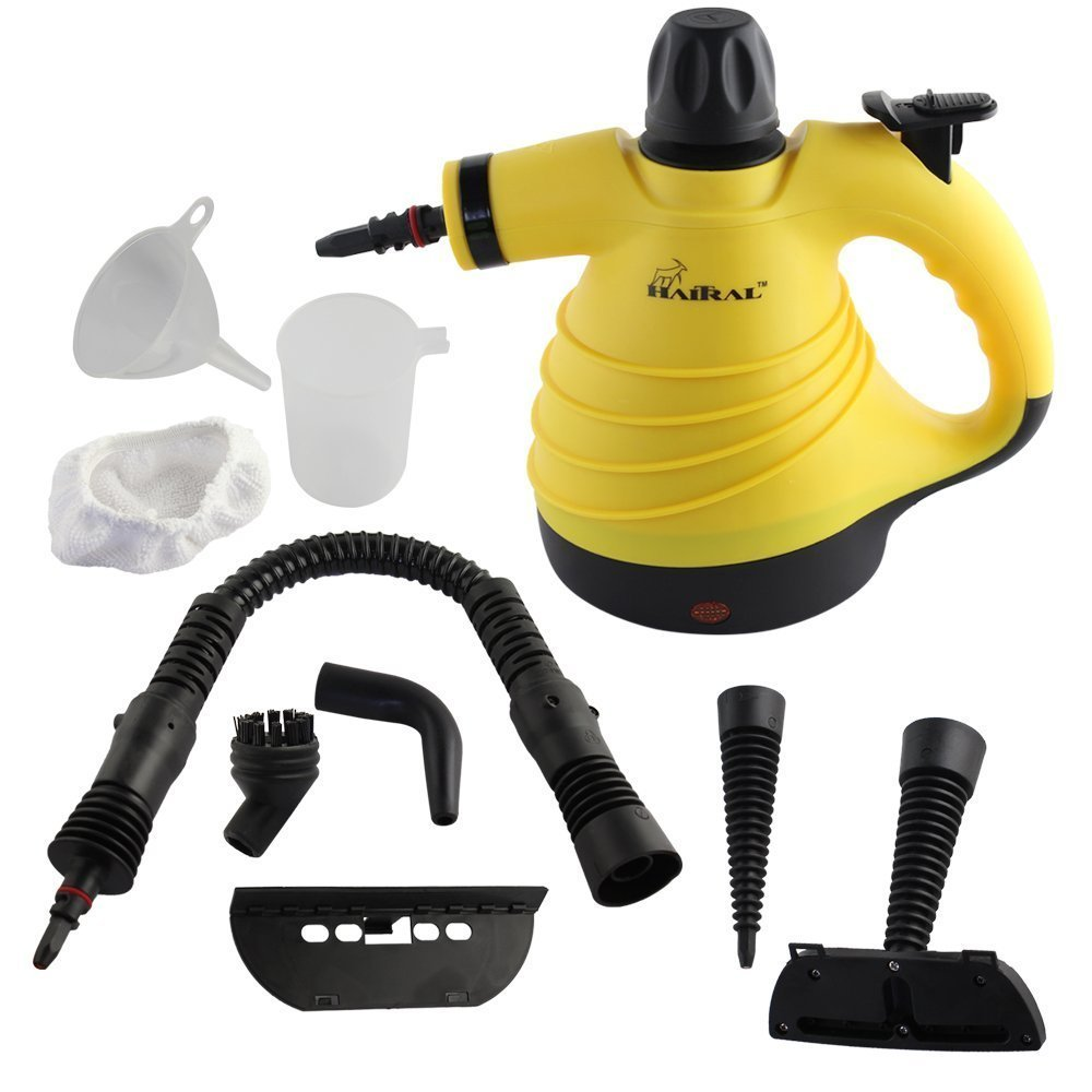 Haitral HT-KS2713Y Multi-Purpose Pressurized Handheld Steam Cleaner, Yellow