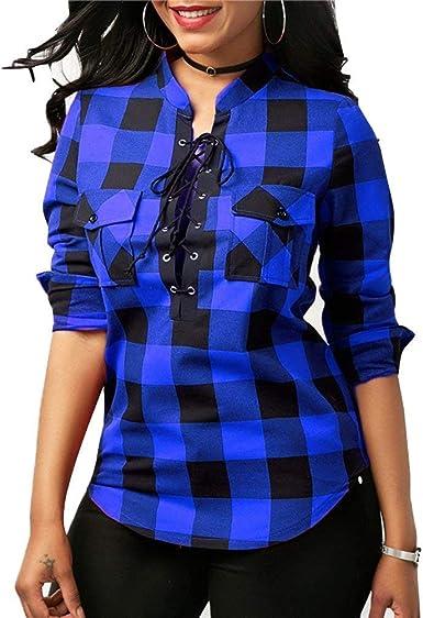 Camisa A Cuadros De Camisa Mujer A Cuadros Camisa Modernas ...
