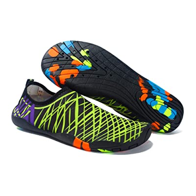 Auoinge Women's Barefoot Water Shoes Men's Quick Drying Sports Yoga Aqua Socks for Outdoor Swim Beach Surf Diving Aerobic Exercise | Water Shoes