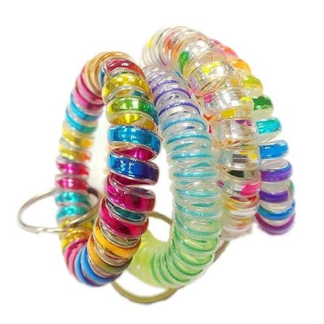 Amazon.com: Juego de 4 pulseras de plástico flexible con ...
