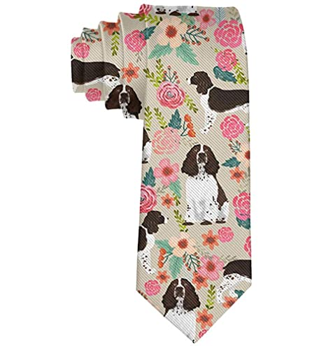 Corbata de caballero con etiqueta floral estampada de Springer ...