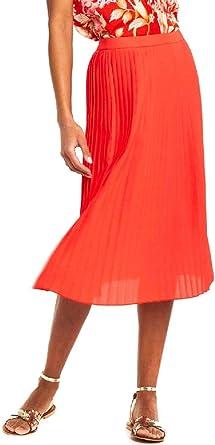 Naf Naf Falda Kenj Naranja Mujer 40 Naranja: Amazon.es: Ropa y ...