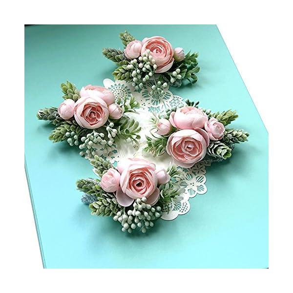 Artificial-Succulent-Boutonniere-Bouquet-Corsage-Wristlet-Vintage-Silk-Fake-Pink-Flowers-flocked-Plants-For-Wedding-Decor-4-Pcs