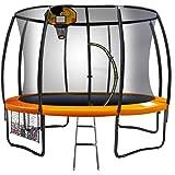 8ft Kahuna Trampoline Safety Net Spring Pad Cover Mat Ladder Free Basketball Set