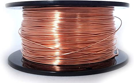 22 Gauge Half Round Dead Soft 99.9/% Pure Copper Wire CDA #110-5FT from Craft Wire