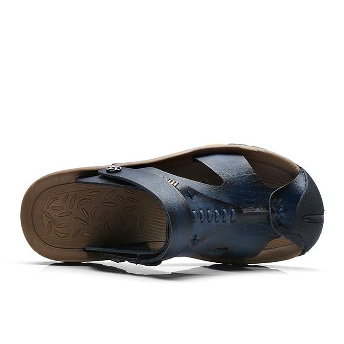 ailishabroy Sandales Hommes Cuir à Bride et à Bout fermé pour Chaussures de  Plage en Homme  Amazon.fr  Chaussures et Sacs 60fa7e9a962