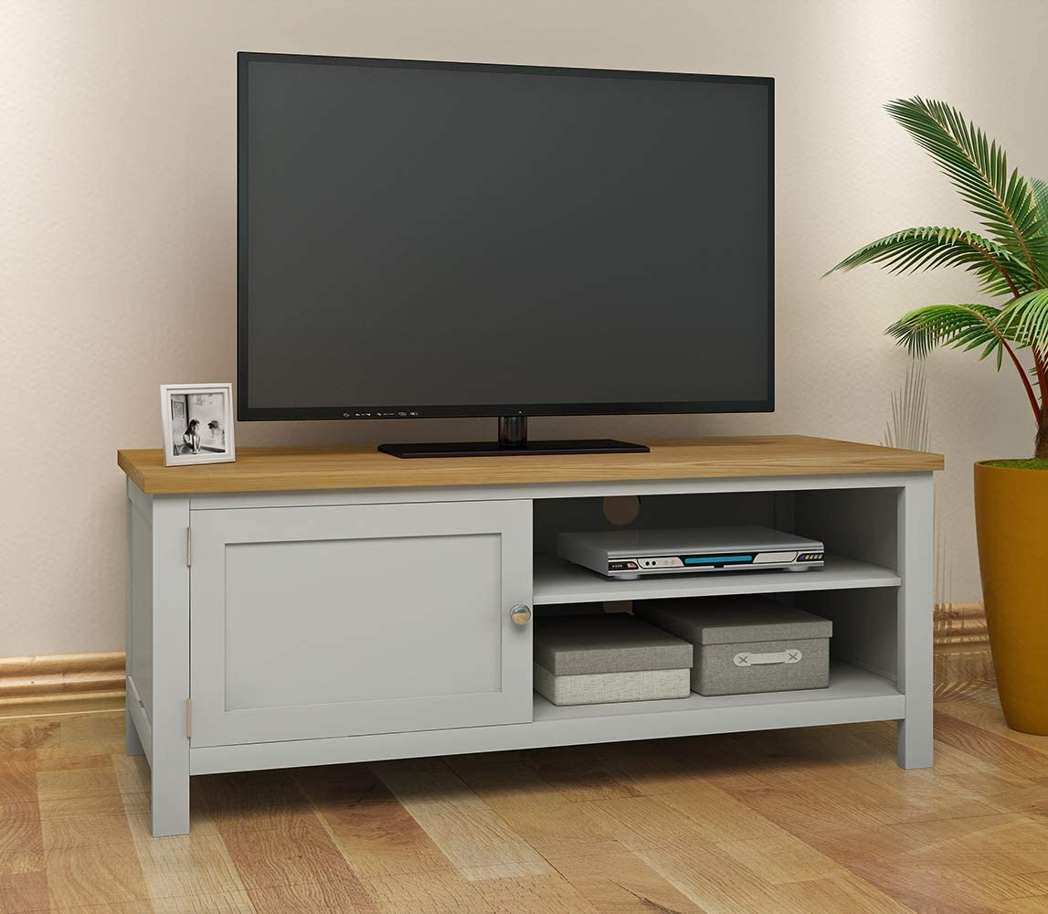 Keinode Mueble de TV Moderno de Roble Macizo para Esquina de TV, 2 Puertas, 2 estantes, Unidad de Almacenamiento de DVD para Sala de Estar o Dormitorio Type D: Amazon.es: Electrónica