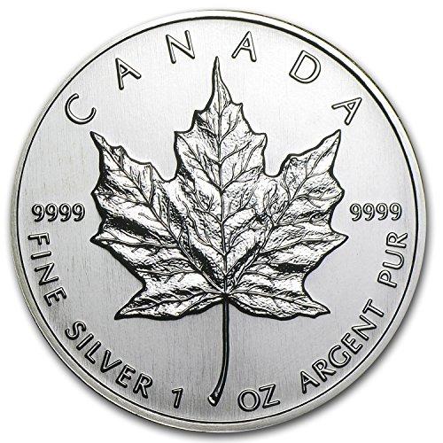 1 Oz Silver Bu Coin - 1994 CA Canada 1 oz Silver Maple Leaf BU 1 OZ Brilliant Uncirculated