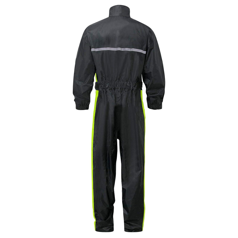 Leopard Hi Vis Waterproof Motorcycle Motorbike Rain Suit 1PC Coat Rain Jacket Oversuit Men Women with Reflective Stripes /& Carry Bag Wet Weather