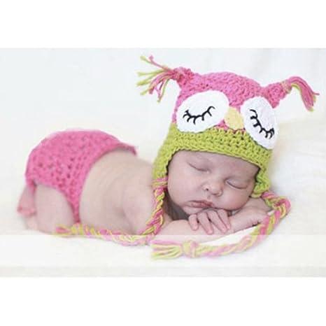 Pixnor süße Eule Style Baby Kleinkinder Neugeborenen Hand gestrickte ...