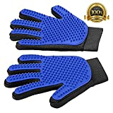 #5: Pet Hair Remover Glove - Magic Pet Grooming Glove Brush - Efficient Deshedding Mitt - for Dogs Cats Horses - Long & Short Fur - Gentle Massage Tool with Soft Rubber Tips - Upgrade Version