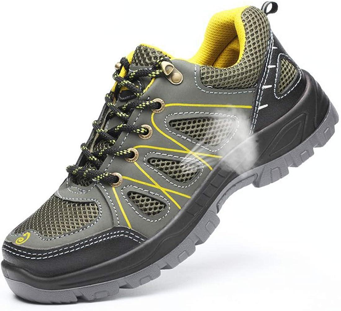 Dxyap Zapatillas de Seguridad para Hombre Mujer Zapatos Trabajo ...