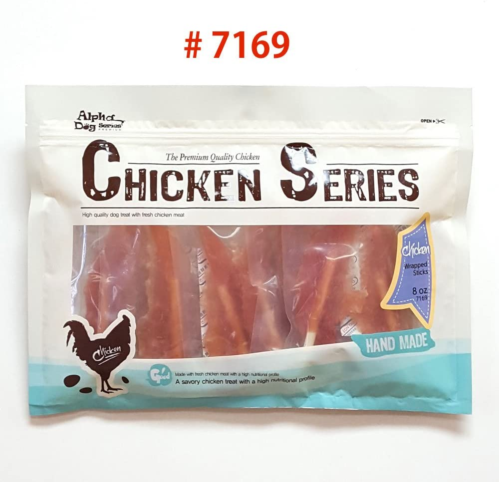 Alpha Dog Series Chicken Wrapped Sticks – 8oz