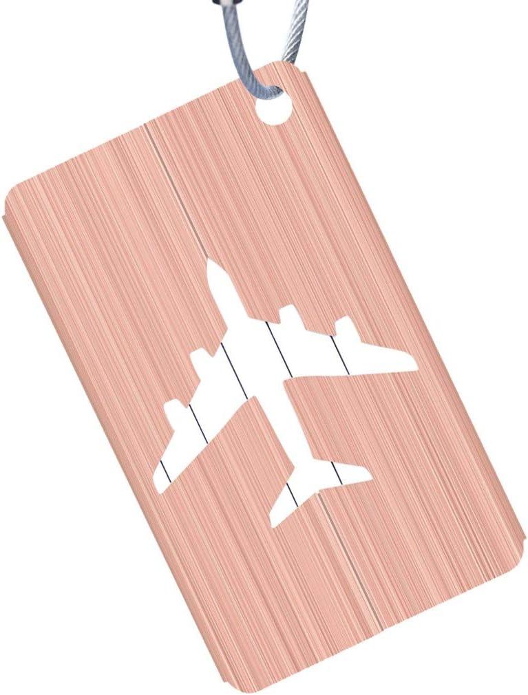 LUCOG /Étiquettes /à bagages en aluminium /Étiquette de valise Nom Adresse ID Sac Bagages /Étiquette /à bagages Voyage