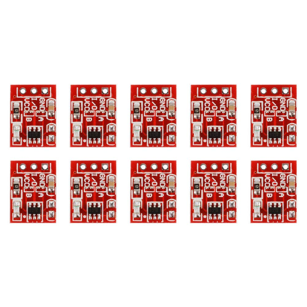 Module 10pcs Red Digital Sensor Self Locking Capacitor Single Channel Button Key Switch(Red)