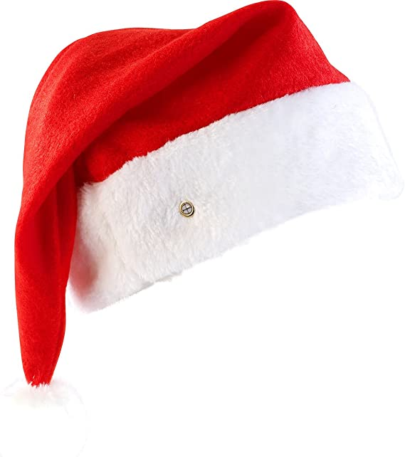 24 Stk.Weihnachtsmützen Nikolaus-Mütze Weihnachtsmütze Blau Weiß Bommel 31