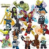 KattyPT Action & Toy Figures - New 16pcs/Set Super Heroes Marvel The Avengers 3 Figures Iron Man Thanos Falcon Gamora Hulk Building Blocks Action Toys 1 PCs