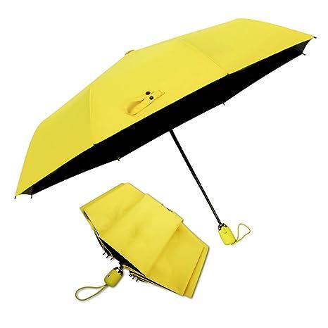 DORRISO Automático Abierto/Cerrado Paraguas Plegable Mujer Durable Ligero Viajar Ocio Multiuso y Resistente al