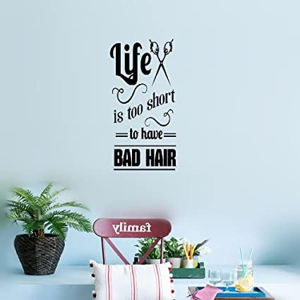 Amazon.com: earck Wall Sticker Quotes Wall Decal Hair Salon ...
