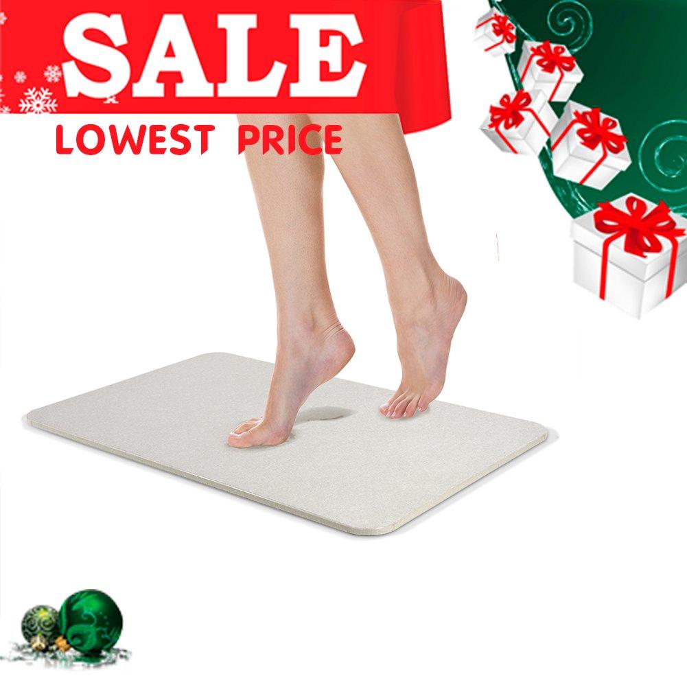 Uarter Bath Mat Diatomaceous Earth Antibacterial Anti Slip Bathroom Floor Mats Size in 15 x 26.8 COMIN18JU030125