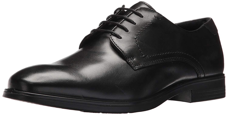 ECCO Men's Melbourne Tie Oxford, Black/Magnet, 44 EU/10-10.5 M US
