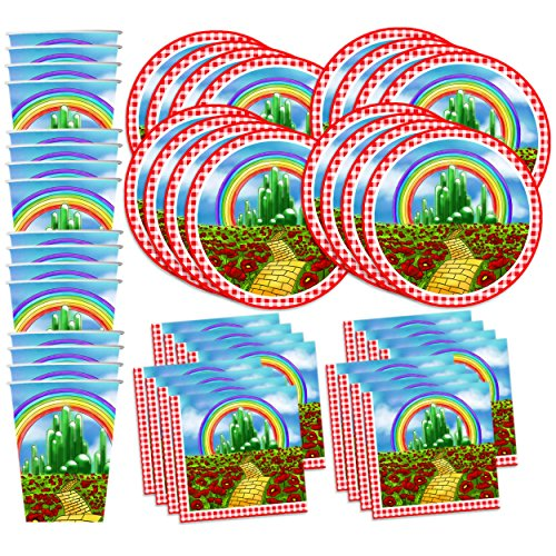 Price comparison product image The Wonderful Wizard of Oz Birthday Party Supplies Set Plates Napkins Cups Tableware Kit for 16