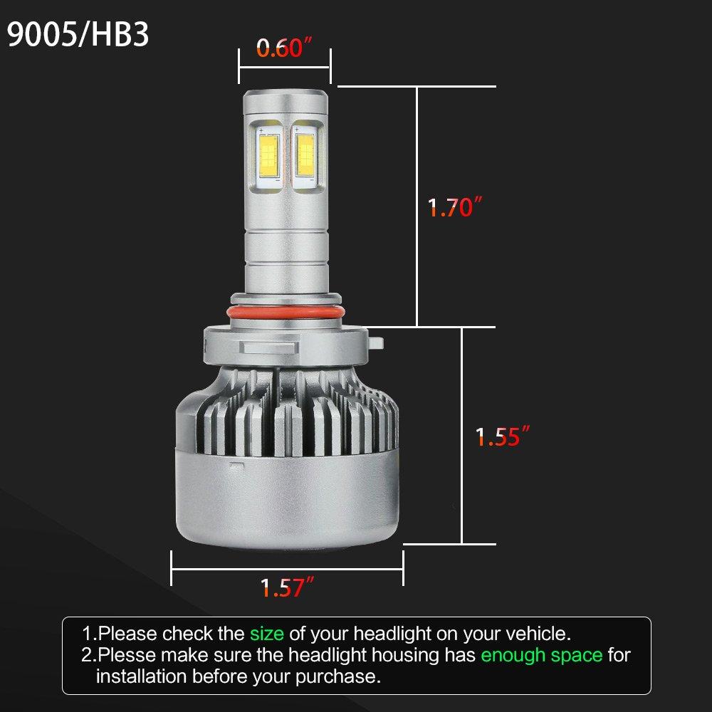 2 Year Warranty Zdatt 100W Super Bright 14400LM HB3 9005 Led Headlight Bulbs Conversion Kits 6000K H10 Led Car Driving Light Fog Lamp for Car Truck Replacement