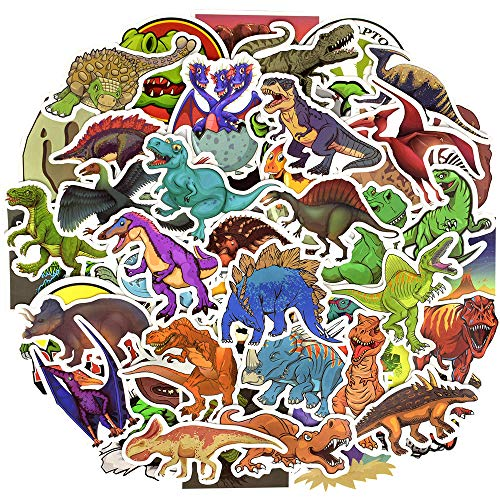 Price comparison product image QTL Waterproof Dinosaur Vinyl Stickers Bomb Laptop Folders Water Bottle Skateboard Car Decals Toys for Kids (50Pcs / Pack)