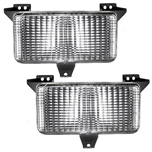 Park Signal Front Marker Lights Lamps Pair Set Replacements for Chevrolet GMC Pickup Truck SUV 915908 (1985 Chevy Pickup Parts)