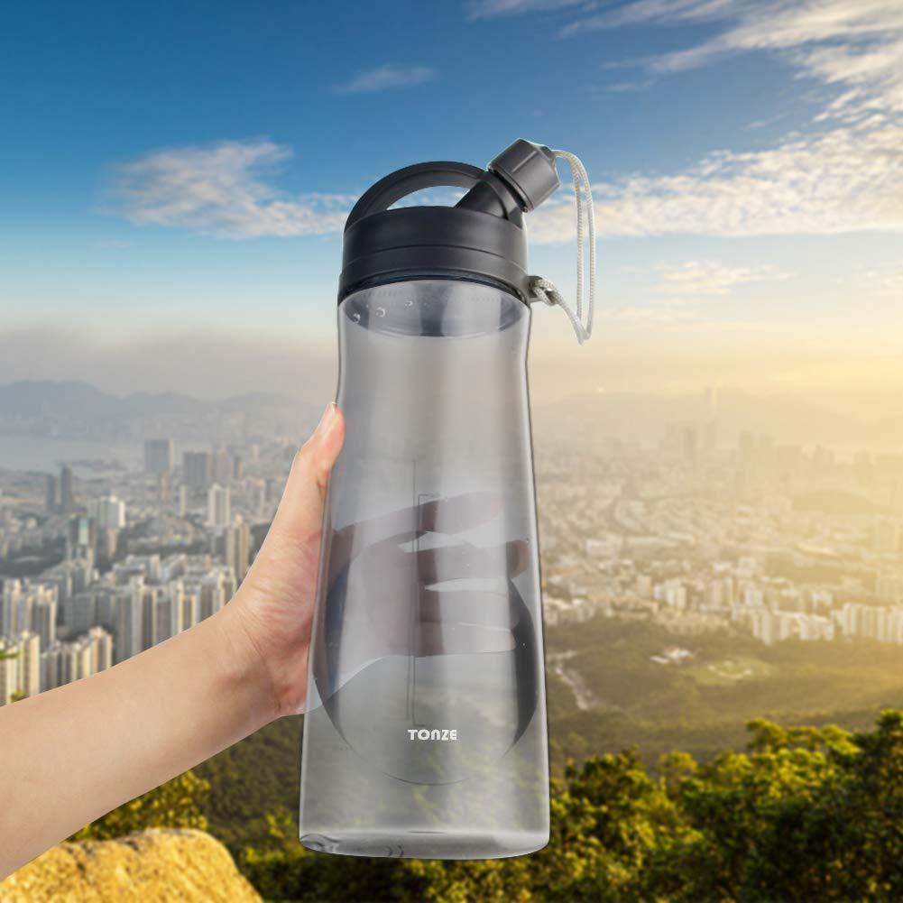 Zeewoo Trinkflasche 1.5L Auslaufsicher BPA Frei Outdoor Sportflasche, Perfekt für Reisen, Camping, Outdooraktivitäten, Sport und den Täglichen Gebrauch