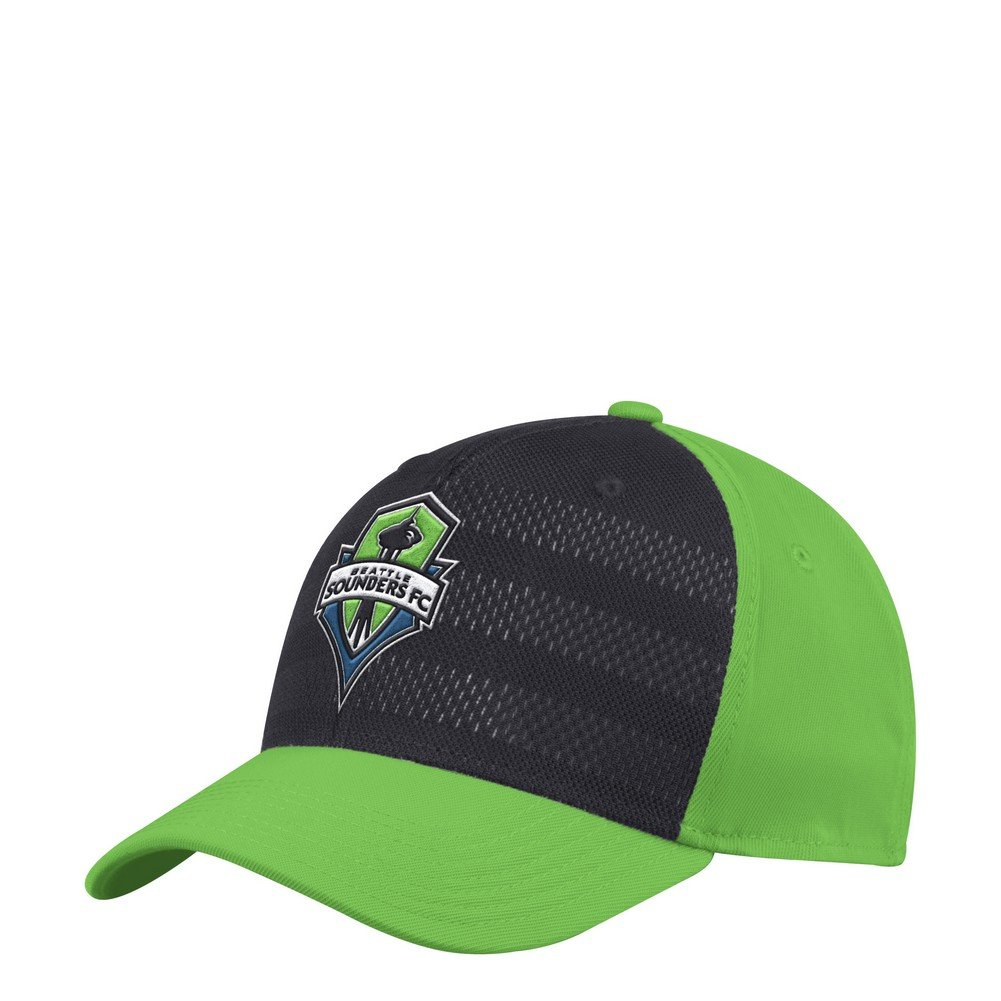 adidas Seattle Sounders FC - Gorro elástico, L-XL, Verde: Amazon ...