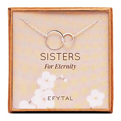 Amazon EFYTAL Sister Gifts From 925 Sterling Silver