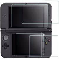 Screen Protector for Nintendo New 3DS XL, AFUNTA 4 Pcs Tempered Glass for Top Screen and HD Clear Crystal PET Film for…