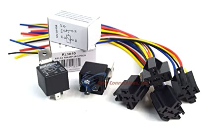 Amazon.com: (4 Pack Bundle) 30/40 AMP Relay + 5-Wire Relay ... on