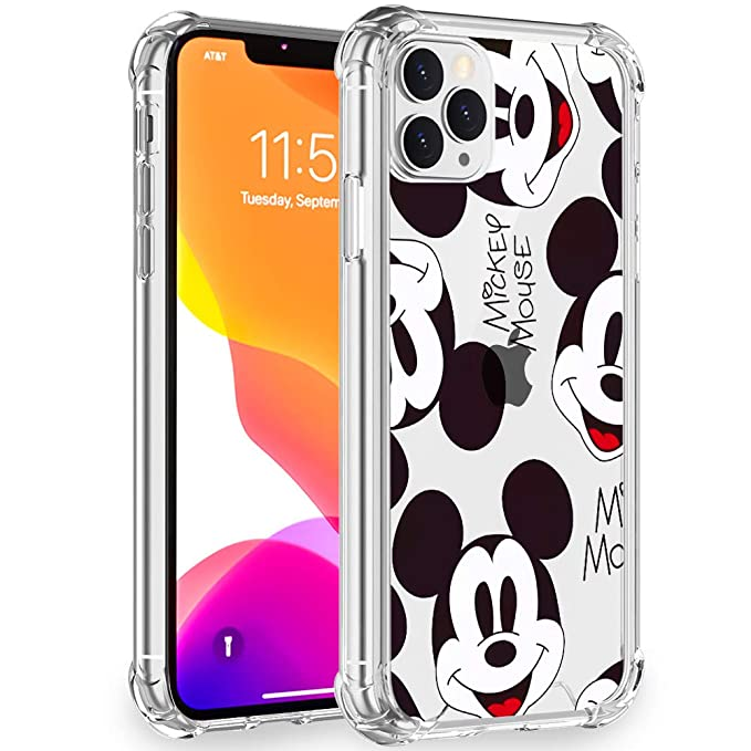 Disney Collection Case Clear For Iphone 11 Pro Max 6 5 Inch Cute Designed Pattern Mickey Mouse Wallpaper Hard Pc Back Cover With 4 Corner Protection Slim Thin Fit Amazon In Electronics