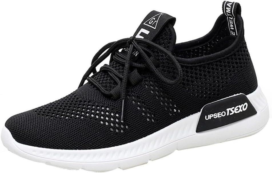 NEARTIME Cleare! Zapatillas deportivas para mujer, de moda, de malla, casual, con puntera redonda, transpirables, zapatos ligeros, suaves, con cordones, para correr: Amazon.es: Hogar
