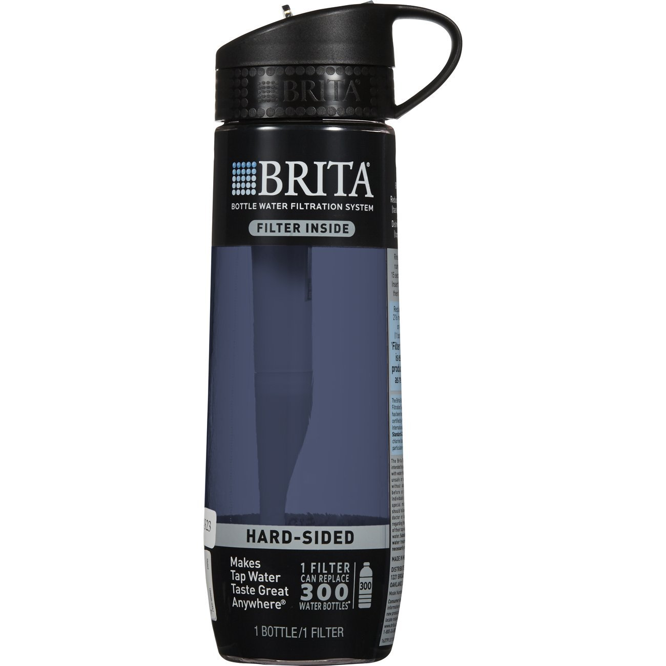 Brita 23.7 Ounce Hard Sided Water Bottle with Filter - BPA Free - Gray by Brita (Image #3)